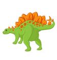 Cute stegosaurus cartoon vector image