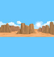 desert landscape with rocks vector image