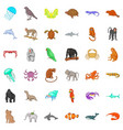 different animals icons set cartoon style vector image vector image