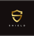 elegant s shield logo icon vector image