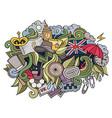 england hand drawn cartoon doodles vector image vector image