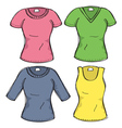 female clothes vector image vector image