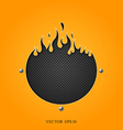 Flame speakers orange background vector | Price: 1 Credit (USD $1)