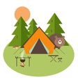 Forest Camping vector image vector image