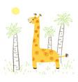 girafe vector image vector image