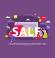 great sale flat composition vector image