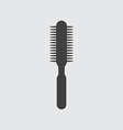 Hair brush icon vector image