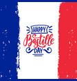 happy bastille day calligraphy design vector image vector image