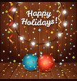 happy holidays greeting card greeting card with vector image vector image
