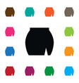isolated skirt icon wear element can be vector image vector image