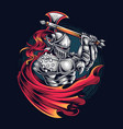 knight warrior as e-sports gamer logo or t-shirt vector image
