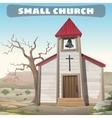 little church in wilderness wild west vector image vector image