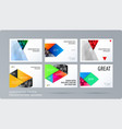 material design style presentation template with vector image