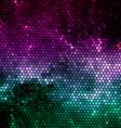Nebular mosaic background vector image vector image