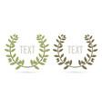 olive branch leaves border wreath frame cartoon vector image vector image