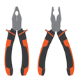 Pliers Pliers with orange and black isolated on vector image vector image