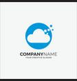 printlogo modern cloud tech vector image
