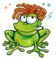 rasta frog cartoon vector image vector image