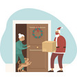 safe and fast delivery on christmas vector image vector image