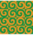 Seamless Circles Orange Green vector image vector image