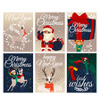 set of christmas and new year vector image vector image