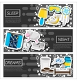 Set of Horizontal Banners about Sleep time vector image