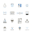 set of minimal geometric hipster logos vector image vector image