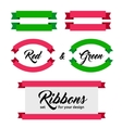 set of ribbons and banners flat style vector image vector image