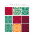 set seamless moroccan pattern vector image vector image