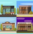 shops concept icons set vector image