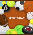 sports day postcard greeting card poster vector image