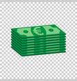 stacks of euro cash in flat design on isolated vector image vector image