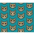 sugar skull cats pattern mexican day dead vector image