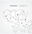 technology hexagons structure vector image