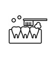 tooth cleaning icon vector image vector image