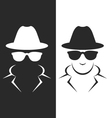 Undercover agent or spy - private detective icon vector image