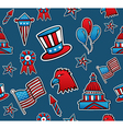 USA seamless pattern background vector image vector image