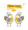 Vintage design with hen vector image vector image