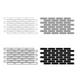 wall set icons the black and grey color set icon vector image vector image