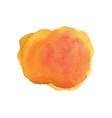 watercolor design orange circle vector image vector image