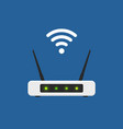 wifi router flat design isolated wireless vector image
