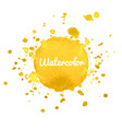 yellow watercolor hand draw splash background vector image vector image