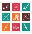 Ethnic native american indians icons vector image