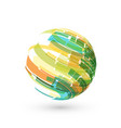 abstract sphere color logo on white vector image vector image