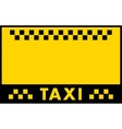 advertise taxi background vector image vector image