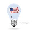American Flag inside light bulb EPS10 vector image