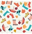 autumn leaves Boots and Umbrellas vector image vector image