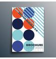 bauhaus retro geometric shapes design for flyer vector image vector image