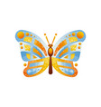 beautiful blue and yellow butterfly insect vector image vector image