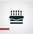 cake icon simple vector image vector image